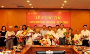 Bộ Tài chính tổ chức Lễ mừng thọ các cựu cán bộ ATK
