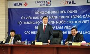 """""""BIDV cần tập hợp, gắn kết cộng đồng các doanh nghiệp Việt Nam có hoạt động đầu tư tại Lào"""""""