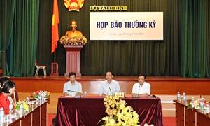 Bộ Tài chính tổ chức họp báo thường kỳ quý II/2014