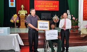 Công đoàn Bộ Tài chính: Những hoạt động thiết thực hướng tới kỷ niệm 67 năm ngày Thương binh Liệt sỹ