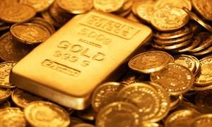 Giá vàng lên cao nhất một tháng
