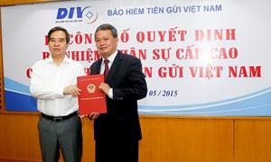 Công bố Quyết định bổ nhiệm Chủ tịch HĐQT và Tổng giám đốc Bảo hiểm tiền gửi Việt Nam