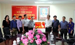 Cán bộ, công chức Bộ Tài chính ủng hộ đồng bào vùng lũ lụt tỉnh Thanh Hóa 200 triệu đồng