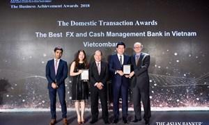 Vietcombank - Ngân hàng cung cấp dịch vụ ngoại hối và dịch vụ quản lý tiền mặt tốt nhất Việt Nam