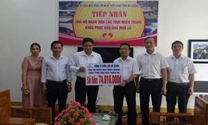 Điện lực Hà Giang ủng hộ đồng bào miền Trung hơn 74 triệu đồng