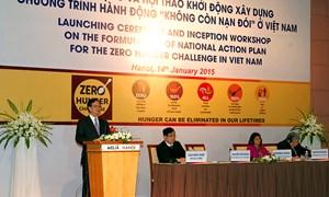 """Lễ phát động chương trình hành động quốc gia """"không còn nạn đói"""" ở Việt Nam"""