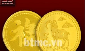 Độc đáo đồng vàng Tài Lộc hình con Dê giá từ 1,5 triệu đồng
