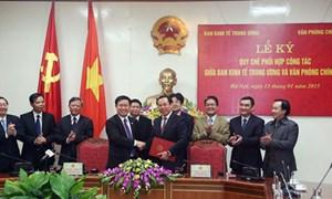 Ban Kinh tế Trung ương và Văn phòng Chính phủ tăng cường hợp tác