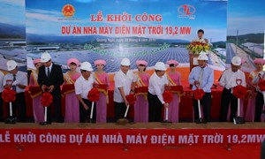 Khởi công xây nhà máy điện mặt trời đầu tiên ở Việt Nam
