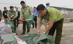 Hà Nội: Tiêu hủy hơn 12 tấn hàng hóa không rõ nguồn gốc
