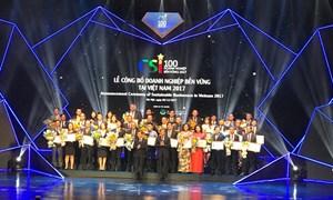 Tôn vinh 100 doanh nghiệp phát triển bền vững