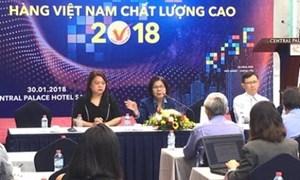 640 doanh nghiệp đạt danh hiệu Hàng Việt Nam chất lượng cao 2018