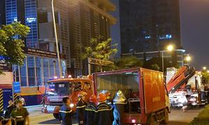 Hà Nội: Cháy tại tòa nhà MB Grand Tower trên đường Lê Văn Lương