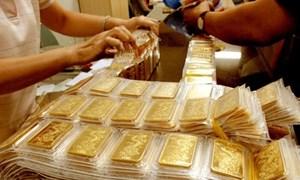 Giá vàng trong nước sáng nay sụt giảm