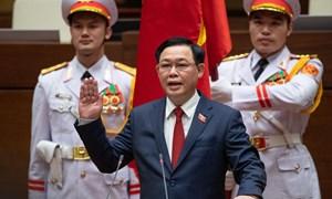 Ông Vương Đình Huệ đắc cử Chủ tịch Quốc hội với tỷ lệ tán thành tuyệt đối