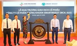 31 triệu cổ phiếu Chứng khoán SmartInvest chính thức giao dịch trên UPCoM