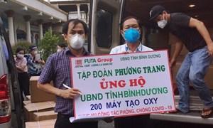 Tập đoàn Phương Trang tiếp tục trao tặng tỉnh Bình Dương 2.000 máy tạo ô xy lưu lượng cao