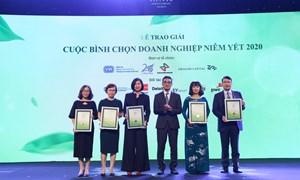 Lễ trao giải cuộc bình chọn doanh nghiệp niêm yết 2020: Hướng đến phát triển bền vững