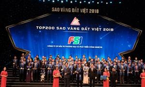 FSI được vinh danh trong Top 200 Thương hiệu Sao Vàng Đất Việt 2018