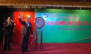 GS.,TS.Vương Đình Huệ, Bộ trưởng Bộ Tài chính dự lễ khai giảng tại Trường Đại học Tài chính – Marketing