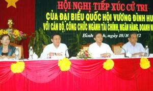 ĐBQH Vương Đình Huệ, Bộ trưởng Bộ Tài chính tiếp xúc cử tri tại Bình Định