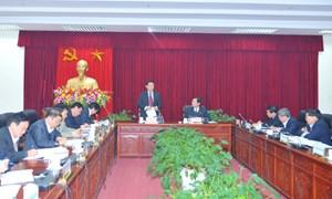 Bộ trưởng Vương Đình Huệ làm việc với tỉnh Lai Châu về tình hình KT-XH và thực hiện nhiệm vụ tài chính ngân sách năm 2012