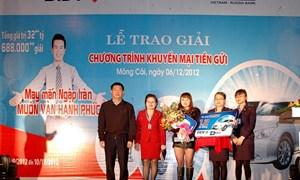 BIDV trao giải trị giá 1,2 tỷ đồng cho khách hàng ở Quảng Ninh