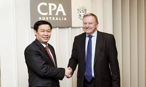 Bộ trưởng Vương Đình Huệ thăm và làm việc tại trường Đại học Queensland và CPA Australia