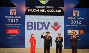 BIDV lần thứ 3 liên tiếp được công nhận Thương hiệu quốc gia