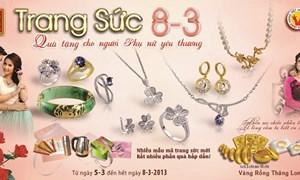 Bảo Tín Minh Châu tung ra nhiều mẫu thiết kế vàng, đá quý nhân ngày 8/3