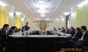 Ban Kinh tế Trung ương làm việc với tỉnh Nam Định về chủ trương, giải pháp chủ động ứng phó với biến đổi khí hậu, bảo vệ tài nguyên, môi trường