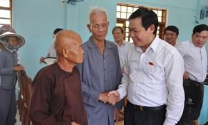 Đại biểu Quốc hội Vương Đình Huệ tiếp xúc cử tri xã đảo Nhơn Châu