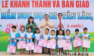 Kho bạc Nhà nước trao tặng trường mầm non tại Quảng Trị