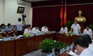 Trưởng ban Kinh tế Trung ương Vương Đình Huệ làm việc với Ban Chỉ đạo Tây Nam Bộ