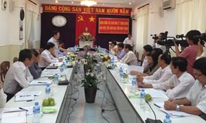 Trưởng Ban Kinh tế Trung ương Vương Đình Huệ làm việc tại Ninh Thuận