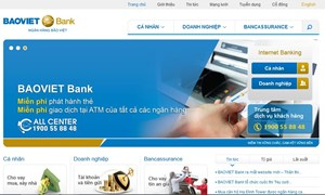 BAOVIET Bank: Ra mắt website mới, miễn phí Internet Banking
