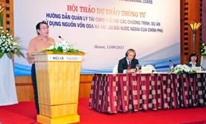 Hoàn thiện Dự thảo Thông tư hướng dẫn quản lý tài chính đối với các dự án ODA