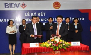 Tổng Cục Thuế  và BIDV ký kết Thoả thuận hợp tác triển khai dịch vụ Nộp thuế điện tử