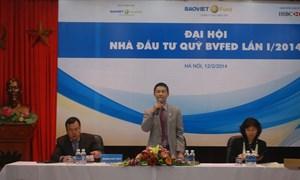 Baoviet Fund tổ chức Đại hội Nhà đầu tư Quỹ Đầu tư cổ phiếu Năng động Bảo Việt lần I/2014