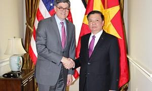 Bộ trưởng Đinh Tiến Dũng hội đàm với Bộ trưởng Tài chính Hoa Kỳ Jacob J. Lew
