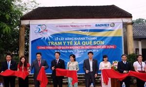 Bảo Việt đầu tư hơn 21 tỷ đồng cải thiện cơ sở hạ tầng tại huyện Quế Phong