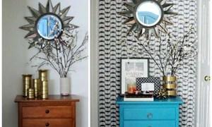 Làm mới đồ nội thất bằng giấy dán tường
