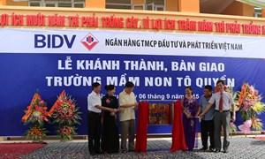 BIDV tài trợ 8 tỷ đồng xây dựng trường học