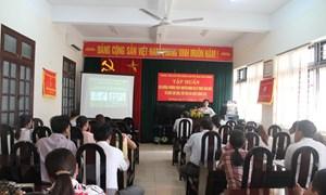 Tập huấn phương pháp khuyến nông và kỹ thuật sản xuất, tổ chức, chế biến, tiêu thụ lúa chất lượng cao