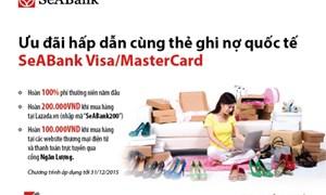 Mua sắm cùng thẻ ghi nợ quốc tế SeABank