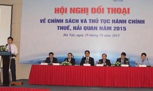 Tiếp tục đối thoại chính sách thuế, hải quan năm 2015