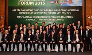 Tổ chức Diễn đàn Đào tạo thị trường vốn khu vực tiểu vùng sông Mê Kông 2015