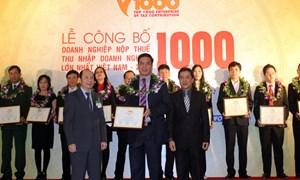 Công bố 1000 doanh nghiệp nộp thuế lớn nhất nước