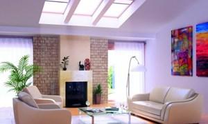 Phòng khách ấm cúng với ánh sáng tự nhiên