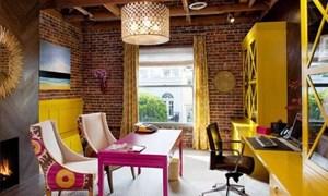 Trang trí phòng làm việc tại nhà bằng gạch trần
